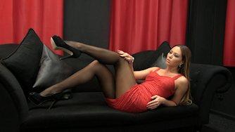 Sexy mature women dress high heels