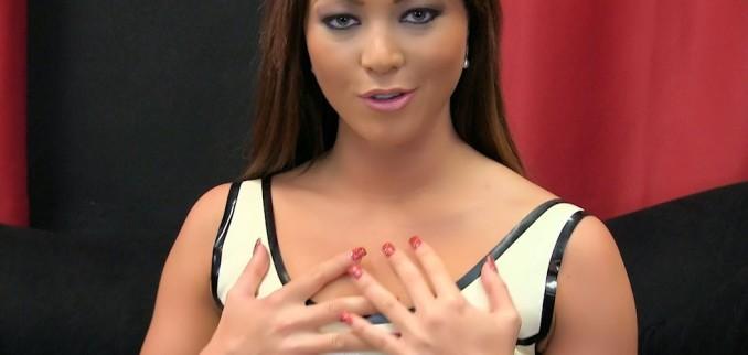 VIDEO: Cream Latex Dress