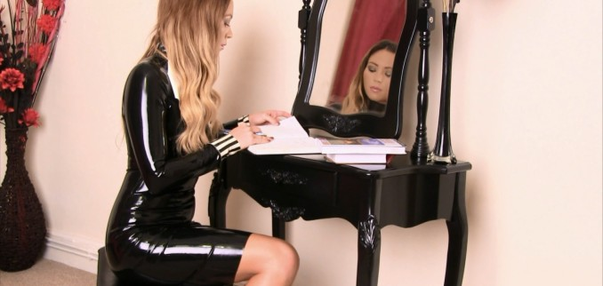 VIDEO: Black Latex Dress