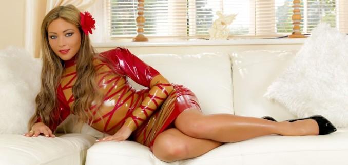 My Red/Gold Transparent Dress