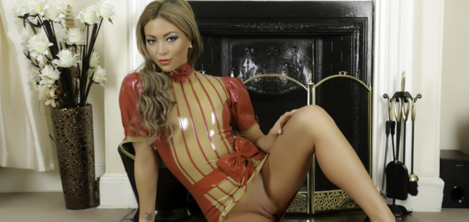 Getting Hot & Horny in my Red & Yellow Transparent Dress!