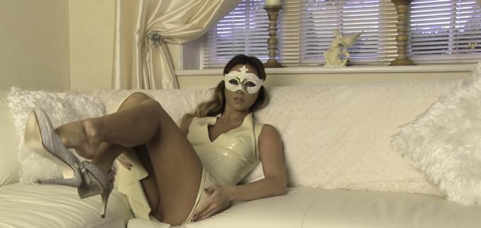 VIDEO: Cream Latex Dress and Mask!