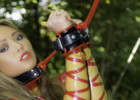 Red & Transparent Latex Outdoors & Bondage!!!