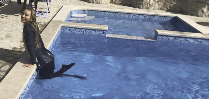 VIDEO: From the Pool to the Jacuzzi in a Suit